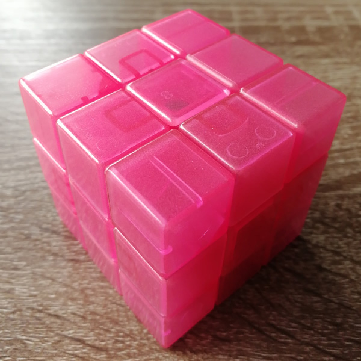 Type C 3x3x3 Magic Cube(V1,Transparent Red )