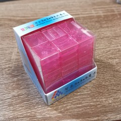 WitEden 3 x 3 x 9 II transparent pink Magic Cube (V2)