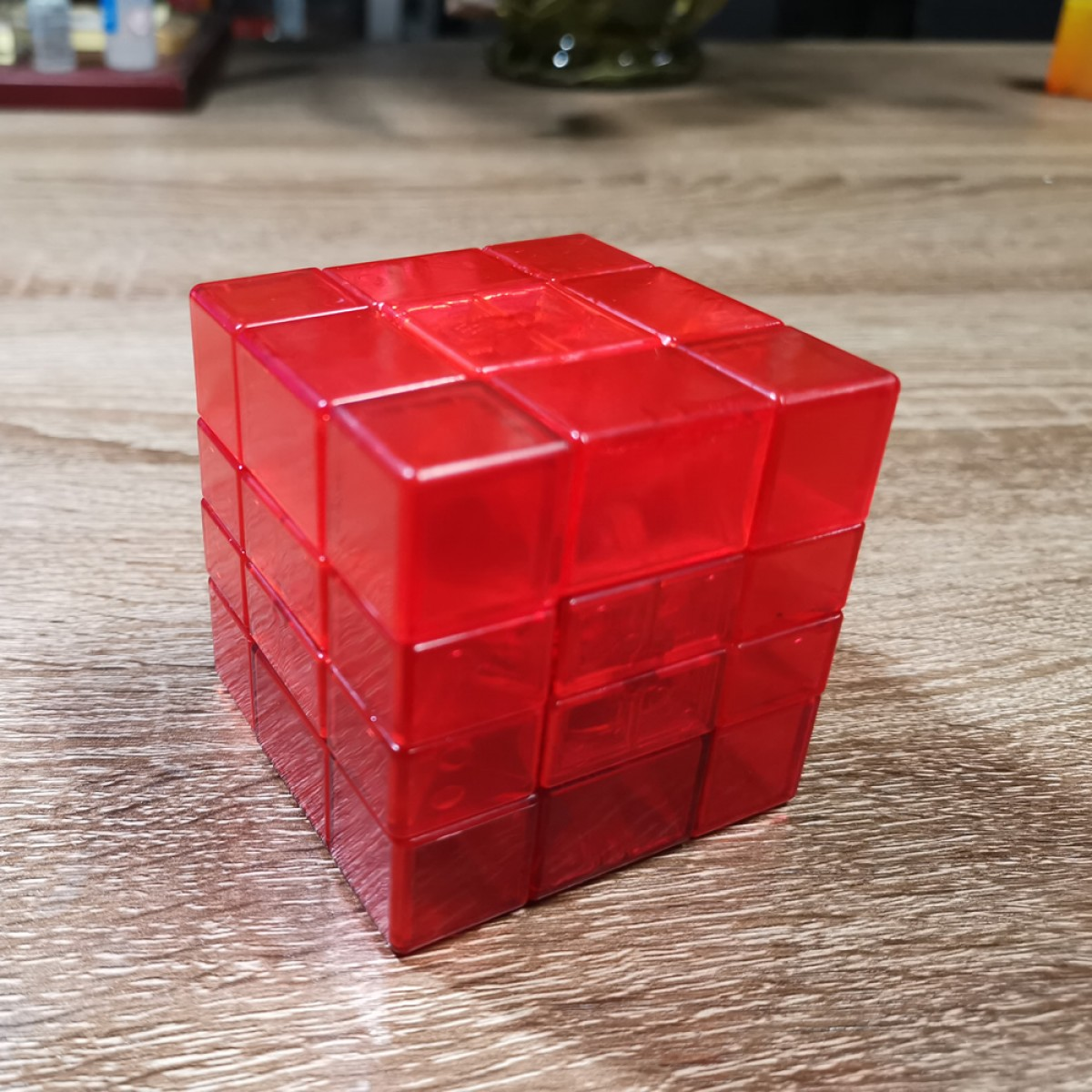 WitEden 3*3*4 Mixup  ice red Magic Cube